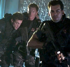 Carlos Olivera A scene from Sony Pictures Entertainment's action/adventure, Resident Evil: Apocalypse, starring Oded Fehr and directed by Alexander Witt.
