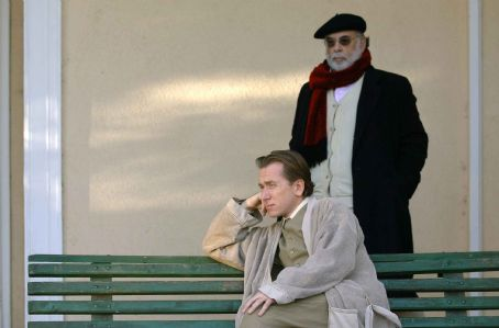 Francis Ford Coppola Front: Tim Roth as Dominic Matei; Back: Director . Photo by Cos Aelenei. © 2006 American Zoetrope INC, courtesy Sony Pictures Classics. All Rights Reserved.