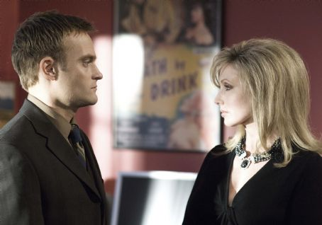 Chad Allen  and Morgan Fairchild in Ron Oliver's movie, Shock to the System - 2006