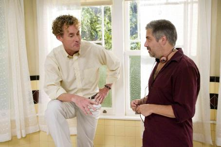 John C. McGinley  (left) and Director/Executive Producer Steve Carr (right) on the set of Columbia Pictures'/Revolution Studios' Are We Done Yet?. Photo Credit: Rob McEwan. © 2007 Revolution Studios Distribution Company, LLC.  All rights reserved.