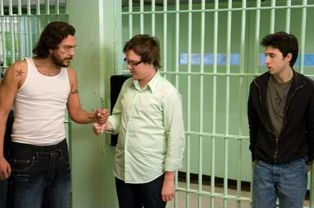 Clark Duke (center) and Josh Zuckerman (right) in Summit Entertainment 'Sex Drive.'