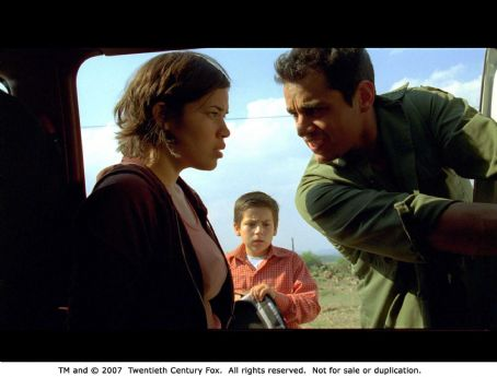 Adrian Alonso America Ferrera, Jesse Garcia and Adrián Alonso in UNDER THE SAME MOON. Photo Credit: Courtesy of Fox Searchlight Pictures