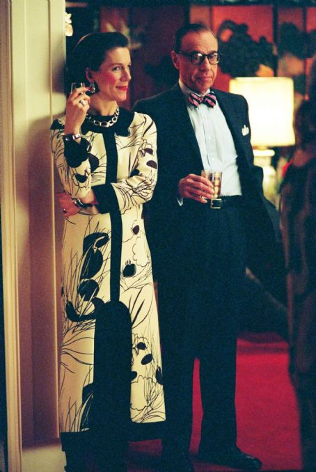 Juliet Stevenson  as Diana Vreeland and Peter Bogdonavich as Bennet Cerf in director Douglas McGrath's Infamous, a Warner Independent Pictures release. Photo Credit: Deana Newcomb © 2005 Warner Bros. Entertainment Inc.