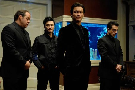 Dominic West Billy 'The Beaut' Russoti (, second from right) and his crew in PUNISHER: WAR ZONE. Photo credit: Jonathan Wenk