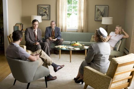 "Michael Shannon From L to R: Leonardo DiCaprio as ""Frank Wheeler,""  as ""John Givings,"" Richard Easton as ""Mr. Givings,"" Kathy Bates as ""Mrs. Givings,"" and Kate Winslet as ""April Wheeler"" star in R"
