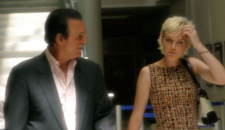 Robert Davi  as Danny with Elaine Hendrix as Stephanie in The Dukes.