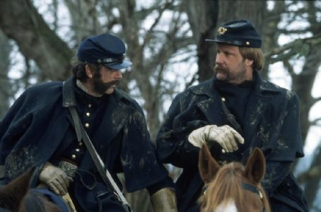 Thomas Howell (left) and Jeff Daniels in Ted Turner Pictures sweeping epic 'Gods and Generals,' also starring Stephen Lang and Robert Duvall, distributed by Warner Bros. Pictures.