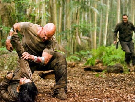 Vinnie Jones Masa Yamaguchi, Steve Austin and  in action movie The Condemned - 2007