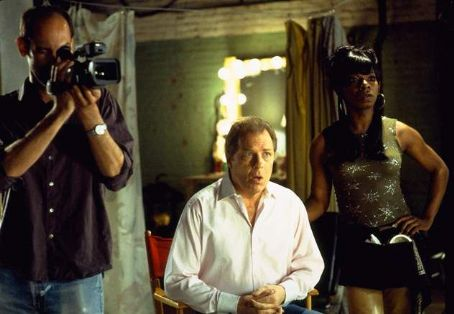 Michael McKean Cameraman (Damien Young), Dwain () and Peaches (Dwight Ewell) in Universal's The Guru - 2003