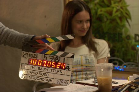 Katherine Waterston  on the set of David Ross direct 'The Babysitters.'