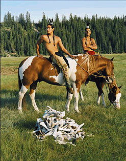 Michael Spears  and Zahn McClarnon in Into the West.