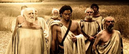 Dominic West  as Theron, with a group of Spartan Councilmen, in 300 - 2007