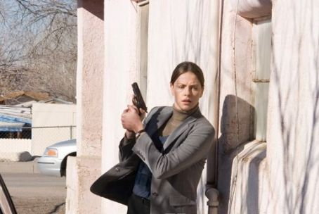 Det. Emily Sanders  (Charlize Theron) in the scene of In the Valley of Elah