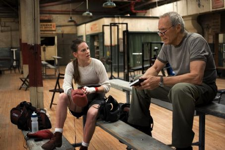 Maggie Fitzgerald Hilary Swank as Maggie and Clint Eastwood as Frankie in Warner Bros. Pictures' drama Million Dollar Baby. The Malpaso production also stars Morgan Freeman. Merie W. Wallace