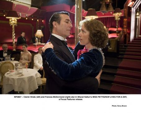 Ciarán Hinds  (left) and Frances McDormand (right) star in Bharat Nalluri's MISS PETTIGREW LIVES FOR A DAY, a Focus Features release. Photo by Kerry Brown. © 2007 Focus Features. All Rights Reserved.