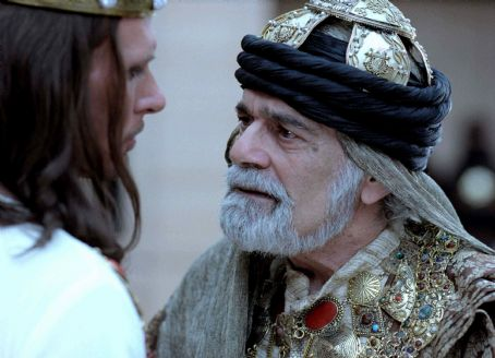 Xerxes King  (Luke Goss) and Prince Memucan (Omar Sharif) in One Night with the King - 2006.