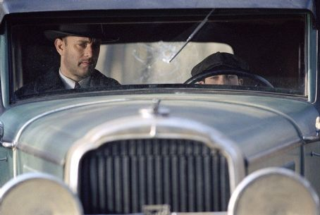 Tyler Hoechlin As part of his plan for revenge, Michael Sullivan (Tom Hanks) must teach his son Michael, Jr. () how to drive in Dreamworks' Road To Perdition - 2002
