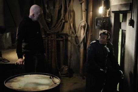 Costas Mandylor Jigsaw (Tobin Bell, left) and Hoffman () in SAW V. Photo credit: Steve Wilkie