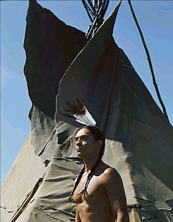 Zahn McClarnon  as Running Fox in TNT's Into the West