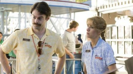 Kristen Wiig Bill Hader as Bobby and  as Paulette in Miramax Films' Adventureland.