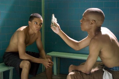 Evan Ross  portrays Anton 'Ant' Swann and Markice Moore as Austin in Warner Bros. Pictures' music-driven coming of age story, ATL. Photo by Guy D'Alema