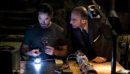 Tony Stark Tony (Robert Downey Jr.) with Yin-Sen (Shaun Toub) in Jon Favreau sci-fi thriller 'Iron Man.'