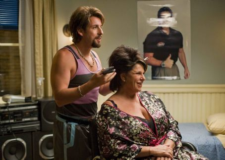 Lainie Kazan In Columbia Pictures' You Don't Mess with the Zohan, onetime counter-terrorist and now-hairstylist Zohan (Adam Sandler, left) practices his technique with Gail (, right). Photo By:  Tracy Bennett. © 2008 Columbia Pictures Industries, I