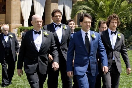 Lou Ferrigno (Left to right) The Klaven/Rice wedding party consists of the father of the groom, Oswald Klaven (J.K. Simmons),  (as himself), Lonnie (Joe Lo Truglio), the groom, Peter Klaven (Paul Rudd), Doug (Thomas Lennon) and the groom's brother, R