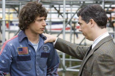 "Chris Parnell Rod Kimble (ANDY SAMBERG, left), a legend-in-his-own-mind stuntman, gets support in his quest for glory from Barry Pasternack (CHRIS PARNELL, right) in ""Hot Rod."" Paramount Pictures Presents A Michaels/Goldwyn Production ""Hot Rod"""