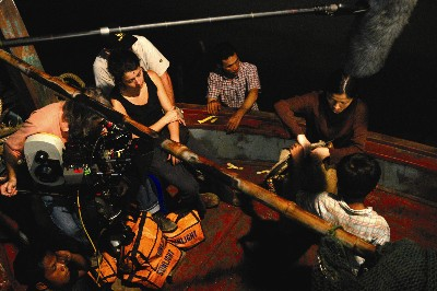 Behind the scene from ImaginAsian Pictures' Journey from the Fall.