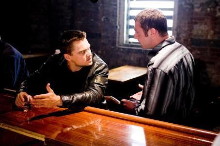 "David O'Hara Fitzy (DAVID O'HARA) confronts Billy Costigan (LEONARDO DiCAPRIO) after a shootout with the police leaves a fellow gang member dead in Warner Bros. Pictures' crime drama ""The Departed."" Photo by Andrew Cooper"