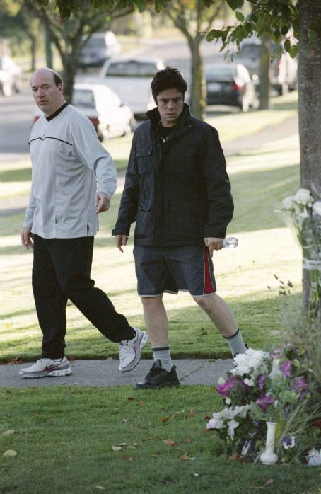 "John Carroll Lynch Howard Glassman (, left) and Jerry Sunborne (Benicio Del Toro, right) pass the site where a close friend was murdered in ""Things We Lost in the Fire."" Credit: Doane Gregory. © 2007 DreamWorks LLC. All Rights Reserved."