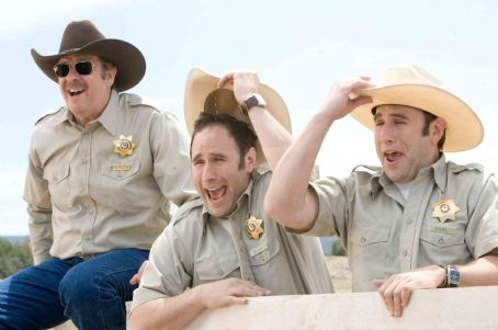 L to R: Stephen Tobolowsky, Randy Sklar and Jason Sklar in Wild Hogs. Photo Credit: Lorey Sebastian. © Touchstone Pictures. All Rights Reserved