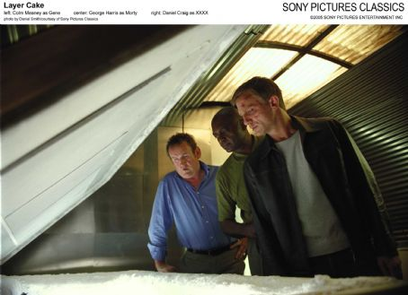 Colm Meaney Left:  as Gene; Center: George Harris as Morty; Right: Daniel Craig as XXXX; Photo by Daniel Smith/courtesy  of Sony Pictures Classics.