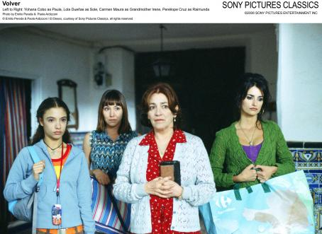 Yohana Cobo Left to Right:  as Paula, Lola Duenas as Sole, Carmen Maura as Grandmother Irene, Penelope Cruz as Raimunda. Photo by Emilio Pereda and Paola Ardizzoni © Emilio Pereda and Paola Ardizzoni / El Deseo, courtesy of Sony Pictures Classics, all righ