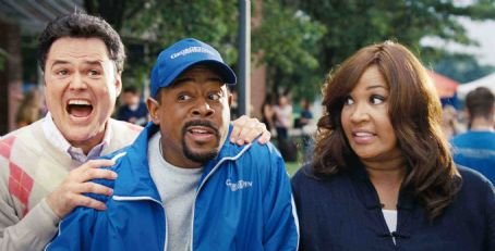 Donny Osmond (L-R) DONNY OSMOND, MARTIN LAWRENCE, KYM WHITLEY in COLLEGE ROAD TRIP © Disney Enterprises, Inc. All rights reserved.