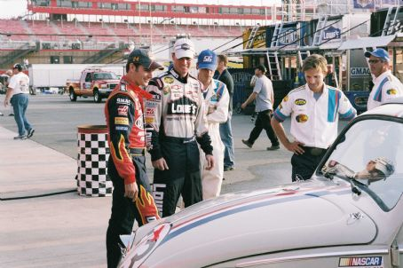 Jimmie Johnson L-R: Jeff Gordon, , Breckin Meyer. Photo credit: Richard Cartwright.