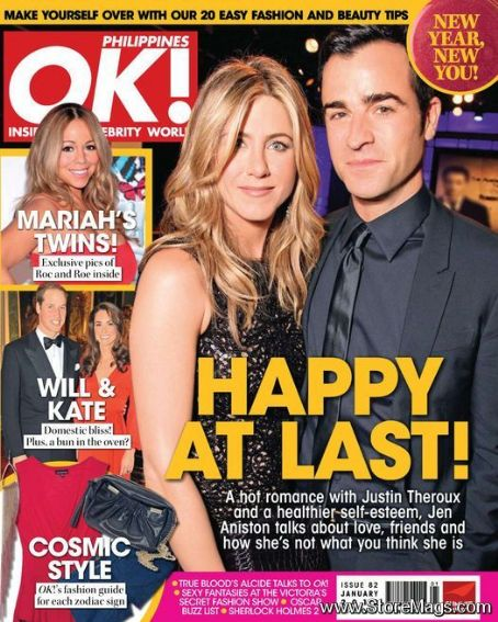 Jennifer Aniston, Justin Theroux - OK! Magazine Cover [Philippines] (January 2012)