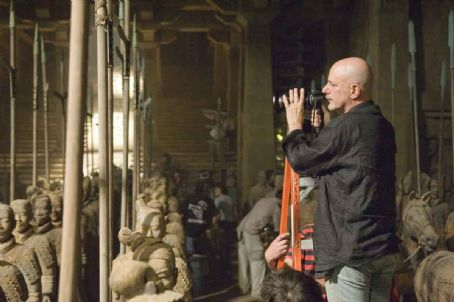 Rob Cohen Director ROB COHEN among the Terracotta Warriors on the set.