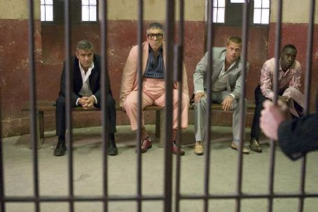 Elliott Gould GEORGE CLOONEY, ELLIOTT GOULD, BRAD PITT and DON CHEADLE in 'Ocean's Twelve,' also starring Matt Damon, Catherine Zeta-Jones, Andy Garcia, Bernie Mac and Julia Roberts and distributed by Warner Bros. Pictures. Photo by Bob Marshak