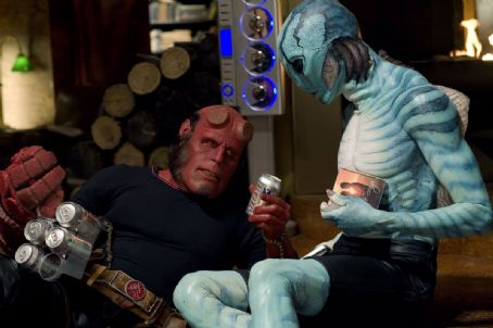 Doug Jones Ron Perlman as Hellboy and  as Abe Sapien in Hellboy 2: The Golden Army