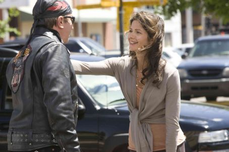 Jill Hennessy Tim Allen and  in Wild Hogs. Photo Credit: Lorey Sebastian. © Touchstone Pictures. All Rights Reserved