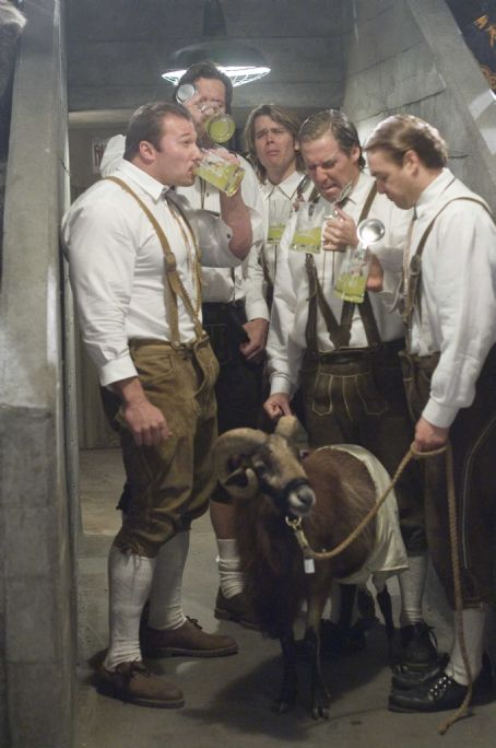 "Ralf Moeller From left to right: GUNTER SCHLIERKAMP as Schlemmer, RALF MOELLER as Hammacher, ERIC CHRISTIAN OLSEN as Gunter, NAT FAXON as Rolf and WILL FORTE as Otto in Warner Bros. Pictures' and Legendary Pictures' comedy ""Beerfest."" Photo by"