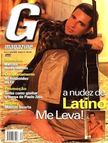 Latino - G Magazine Cover [Brazil] (July 2000)