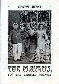 Jan Clayton PLAYBILL FOR THE 1946 BROADWAY REVIVEL OF ''SHOW BOAT'' PL