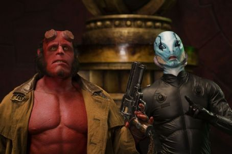 Doug Jones Ron Perlman as Hellboy and  as Abe Sapien in Universal Pictures' Hellboy 2: The Golden Army