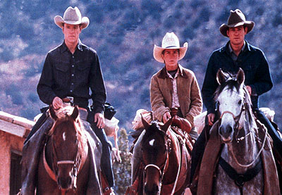 All the Pretty Horses Matt Damon, Lucas Black and Henry Thomas in Miramax's All The Pretty Horses - 2000