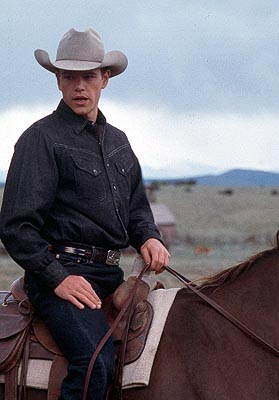All the Pretty Horses Matt Damon as John Grady in Miramax's All The Pretty Horses - 2000