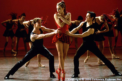 Amanda Schull The finale of the Columbia Pictures presentation Center Stage (2000) culminates in an original ballet that explores in dance and music the central romantic triangle of Cooper (Ethan Stiefel, left foreground), Jody (, center foreground) and Ch