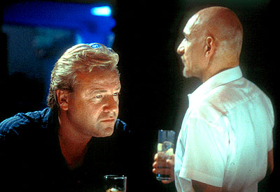 Sexy Beast Ray Winstone as Gal Dove and Ben Kingsley as Don Logan in Fox Searchlight's  - 2001